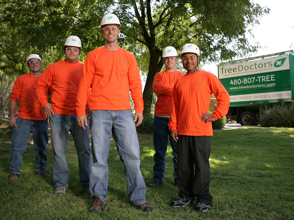 tree care workers standing together